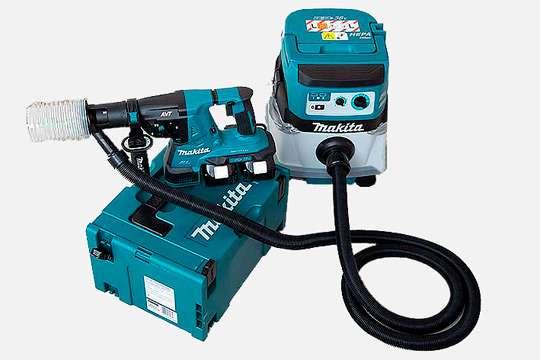 Makita представила аккумуляторные перфоратор и пылесос с Bluetooth-синхронизацией