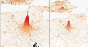 Города стали горами на карте населения