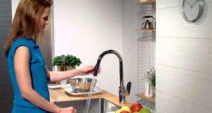 Как выбрать кухонный смеситель с выдвижной лейкой