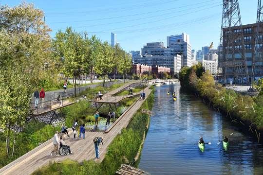 В центре мегаполиса создадут первый в мире плавучий парк