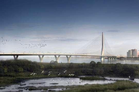 Началось строительство самого длинного вантового моста в мире
