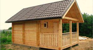 Как построить недорогую баню с отделкой из бруса