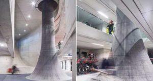 Под ж/д вокзалом построили самый большой велогараж в мире