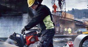 Как резать бетон бензопилой. Видео